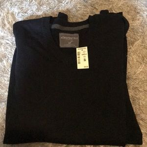 Men's Aero vneck black sweater 😘🌈🦋